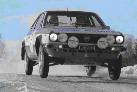 Lancia in Schweden: 1975 - Lampinen/Andreasson - Platz 4 mit dem Beta Coupé