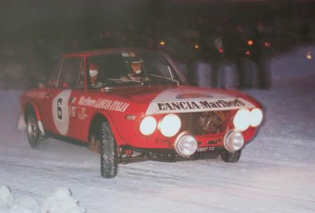Lancia in Schweden: 1973 - Andersson/Sodano - Gastspiel des späteren Toyota-Chefs (Archiv McKlein)