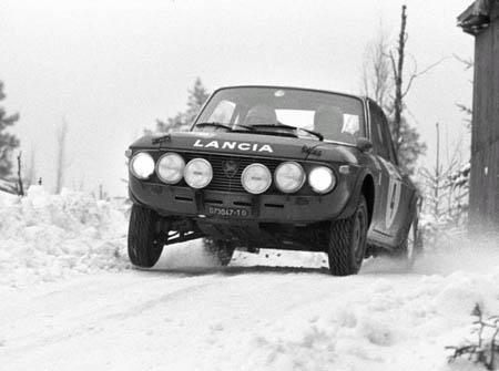 Lancia in Schweden: 1971 - Källström/Haggbom - Platz 3