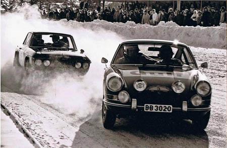 Lancia in Schweden: 1969 - Källström/Haggbom im Auspuff von Waldegaard/Helmer - Platz 6