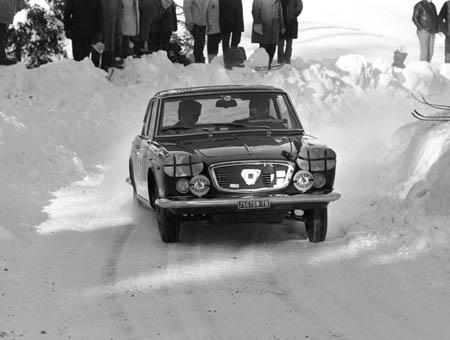 Lancia in Schweden: 1966 - Cella/Lombardini - ausgeschieden (Archiv McKlein)