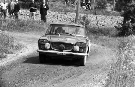 Lancia in Schweden: 1964 - Bialetti auf dem Weg zur Mitternachtssonne - ausgeschieden (Archiv McKlein)
