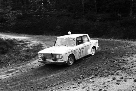3-Städte-Rallye 1964: Radler/Kiesenebner auf der Fulvia Berlina 2C