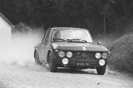 3-Städte-Rallye 1967: Karger/Wessely auf der Fulvia 1,3 HF des Importeurs Denzel