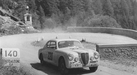 Coupe des Alpes: Der Schwager von Gianni Lancia F. Gatta 1952 und 1953 erfolgreich