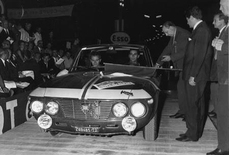 Coupe des Alpes: 1966 - S. Munari/G. Harris - ausgeschieden wie alle anderen Fulvia-Fahrer