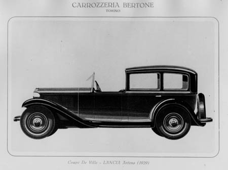 Lancia Artena: Early coachbuilt coupé de ville on the long second series Artena chassis by Bertone