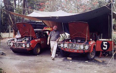 Rallye in Ostafrika: 1969 - Moss-Carlsson/Seigle-Morris und Aaltonen/Liddon (Foto McKlein)