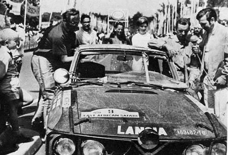 """Rallye in Ostafrika: 1969 - Aaltonen/Liddon als 9. im Ziel - """"gebrauchte"""" Fulvia 1,3 HF"""