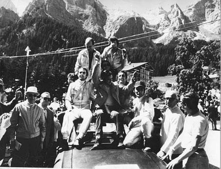 San Martino di Castrozza 1971: Fast die komplette HF Squadra Corse