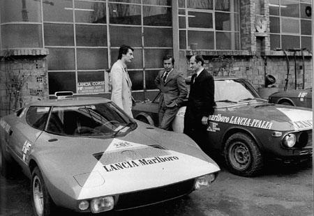 """Reparto Corse Lancia: """"Zwischen den Zeiten"""": D. Audetto - C. Fiorio - G. Tonti"""