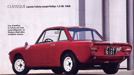 Gazoline und Autoretro April 2014: Lancia Fulvia coupé Rallye 1,3 HF, 1968