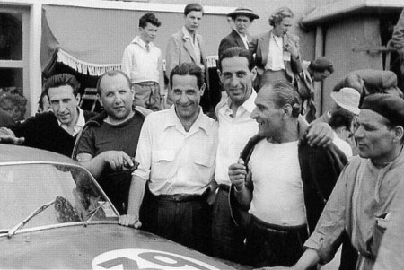 Lancia and De Virgilio: Le Mans 1952: Valenzano, Anselmi, De Virgilio, Ippocampo und Bonetto