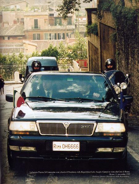 Tutte le Auto dei Presidenti: Lancia Thema 3.0 V6 - 1993 bis 1999