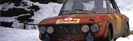Lancia Fulvia im Schnee Teil 2