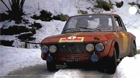 Lancia Fulvia im Schnee - Fiori 1968: Pat Moss-Carlsson/Elizabeth Nyström - Platz 2