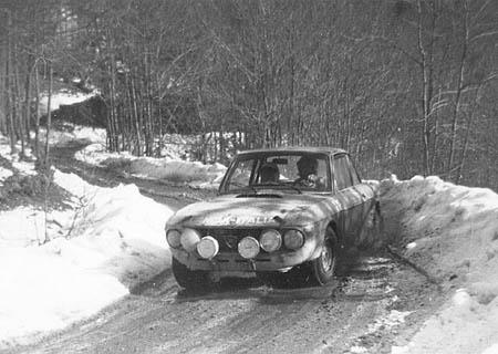 Lancia Fulvia im Schnee - Sanremo 1971: Ballestrieri/Bernacchini - Platz 2