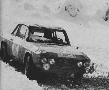 Lancia Fulvia im Schnee - Sestriere 1969: Stirling Moss/David Stone - ausgeschieden?!