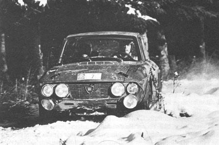 Lancia Fulvia im Schnee - 1969: Tony Fall/Henry Liddon - Platz 3