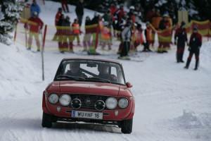 Lancia Fulvia im Schnee - Planai Classic 2010: Helmut Neverla/Richard Hollinek - 1,6 HF