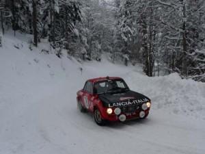 Lancia Fulvia im Schnee - Monte Carlo Historique 2015