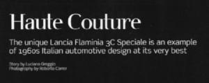 Lancia Flaminia 3C Speciale: Artikel