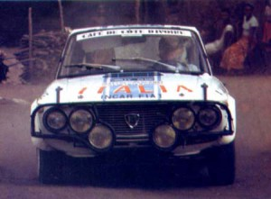 Arnaldo Cavallari 1974 bei der Bandama Rallye in Westafrika
