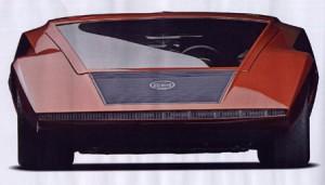 Lancia Stratos Zero Frontansicht