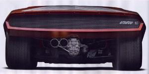Lancia Stratos Zero Heckansicht