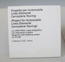 """""""Progetto per Automobile Carrozzeria Touring, 1953, Collezione CSAC Parma"""""""