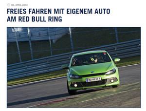 Freies fahren mit eigenem Auto am Red Bull Ring