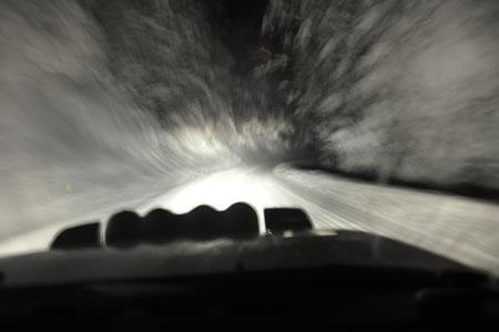 Rallye Monte Carlo Historique 2015: Nachtfahrt durch den Schnee
