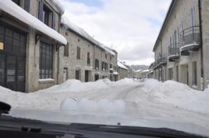 Rallye Monte Carlo Historique 2015: Straße mit Schnee