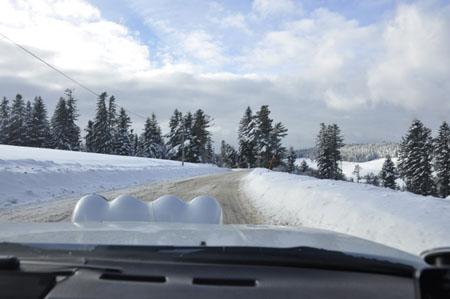 Rallye Monte Carlo Historique 2015: Verschneite Straße