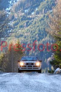 Winterrallye Steiermark 2014: Hiaslegg zwischen Trofaiach und Pichl - Historischer Boden der Rallyegeschichte
