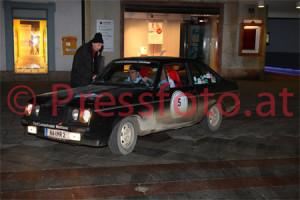Winterrallye Steiermark 2014: Die schnelle Fulvia blieb zu Hause in Salzburg - Heck 'raus mit dem Escort