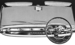 US influence evident in the dashboard treatment of the Flaminia Berlina