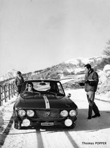 Test für die Rallye Monte Carlo 1967: Cesare Fiori mit Ove Andersson und John Davenport