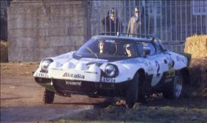 Björn Waldegǻrd bei der RAC Rally 1975 - disqualifiziert