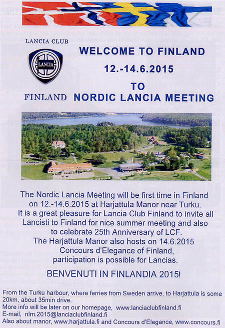 La Lancia Nr. 120: Welcome to Finland!