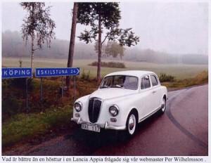 La Lancia Schweden - Lancia Appia auf der Landstraße