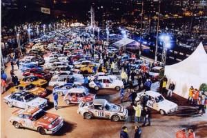 Parc fermé der XVIII. Rallye Monte Carlo Historique 2015