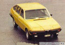 Lancia Beta Berlina in gelb