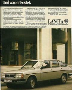 Lancia Beta Berlina: 6 Jahre Garantie gegen Durchrostungsschäden