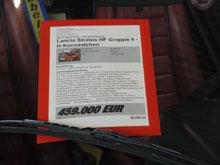 Retro Classics Stuttgart 2015 - Preisschild Lancia Stratos