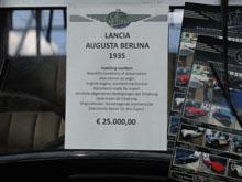 Retro Classics Stuttgart 2015 - Preisschild Lancia Augusta Berlina 1935
