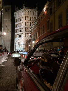 Nächtliche Zeitkontrolle in Parma