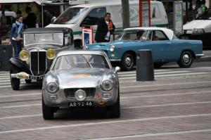 Sliding Pillar Rally 2015: Einfahrt in Sélestat: Appia Zagato, Belna Coupé und Appia Coupé