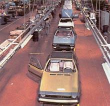 Paralell zum Montecarlo &  Scorpione lief der Fiat 124 vom Laufband