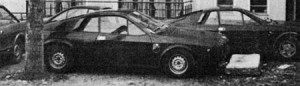 März 1973: die Basis, zwei SE029 Prototypen mit seitlichem Abarth Corse Emblem